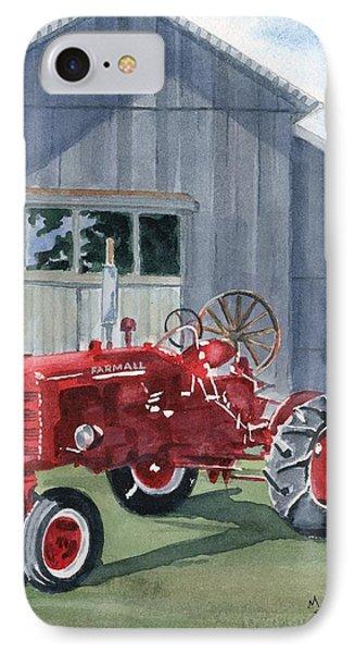 Neighbor Don's Farmall Phone Case by Marsha Elliott