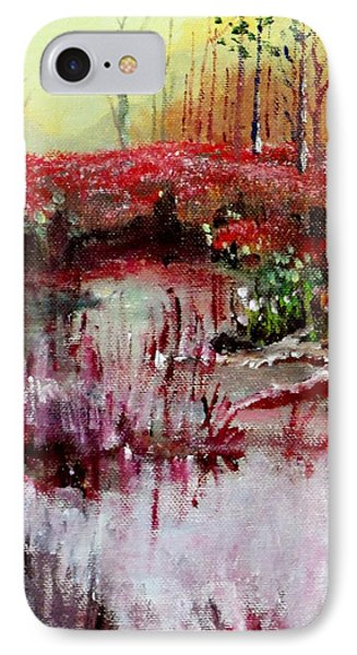 IPhone Case featuring the painting Neighborhood Creek by Jim Phillips