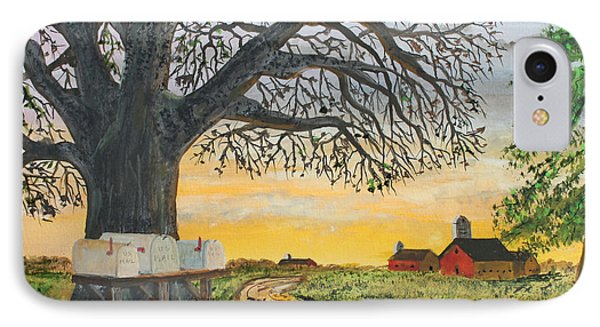 IPhone Case featuring the painting Neighbors Meeting Place by Jack G  Brauer