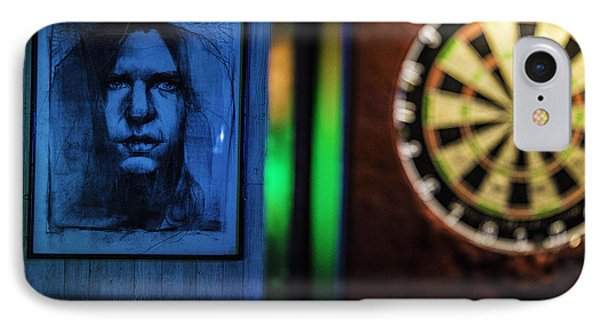 Neil And The Dartboard IPhone Case by Raymond Kunst