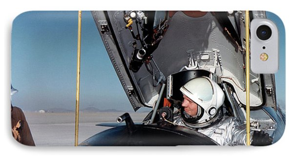 Neil Armstrong As X-15 Test Pilot IPhone Case by Nasa
