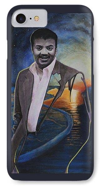 Neil Degrasse Tyson- Shore Of The Cosmic Ocean IPhone Case by Simon Kregar