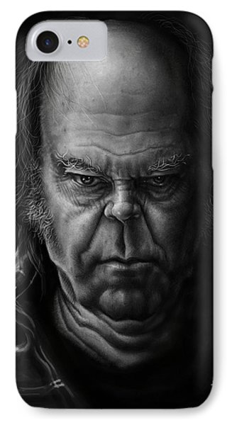 Neil Young IPhone Case by Andre Koekemoer