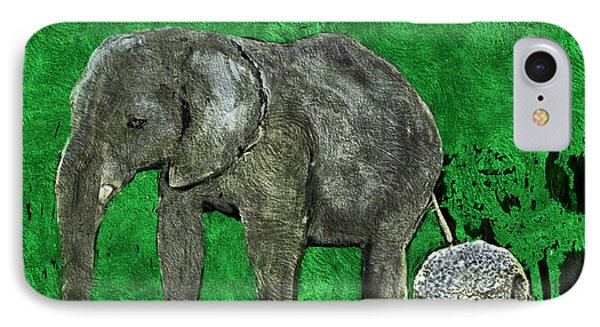 IPhone Case featuring the digital art Nelly The Elephant by Pennie  McCracken