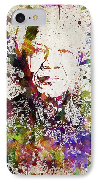 Nelson Mandela In Color IPhone Case by Aged Pixel