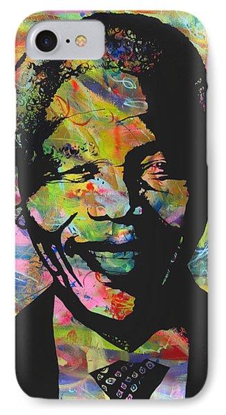 Nelson Mandela Phone Case by Jean P Losier