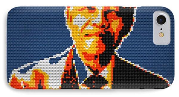 Nelson Mandela Lego Pop Art Phone Case by Georgeta Blanaru