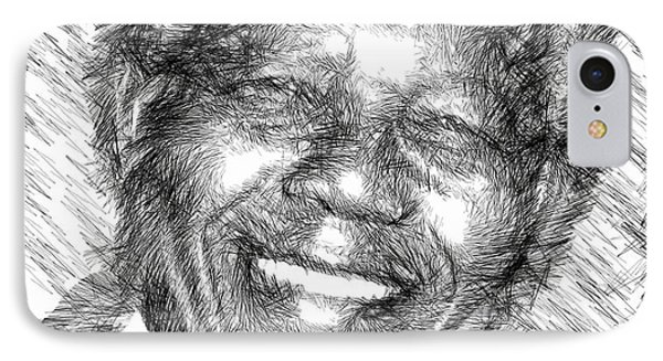 Nelson Mandela IPhone Case by Rafael Salazar