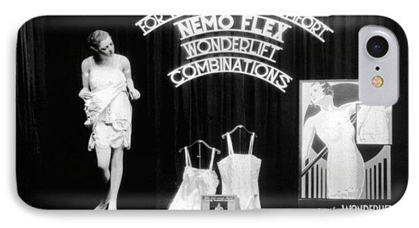 Nemoflex Wonderlift Garments IPhone Case by Underwood Archives