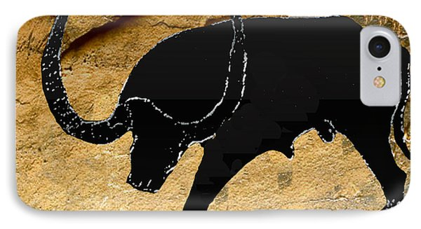 Neolithic Buffalo Of Oran IPhone Case by Asok Mukhopadhyay