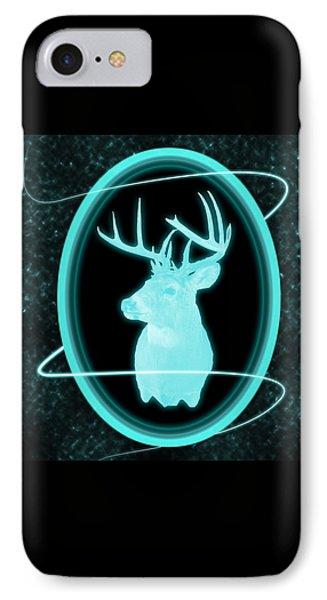 Neon Buck IPhone Case by Shane Bechler