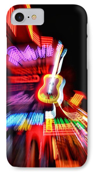 Neon Burst In Downtown Nashville Phone Case by Dan Sproul