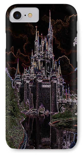Neon Castle IPhone Case by Eric Liller