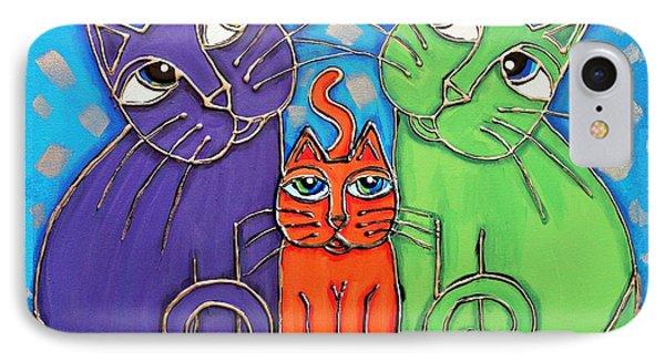 Neon Cat Trio #1 IPhone Case
