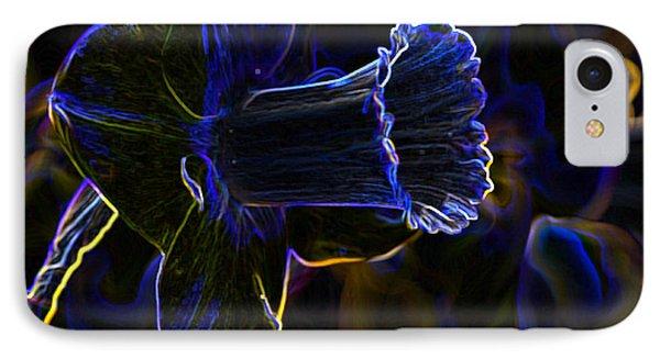 Neon Flowers Phone Case by Charles Dobbs