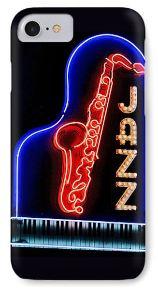 Neon Jazz IPhone Case by Nadalyn Larsen