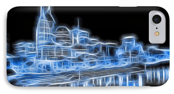 Neon Nashville Skyline IPhone Case by Dan Sproul
