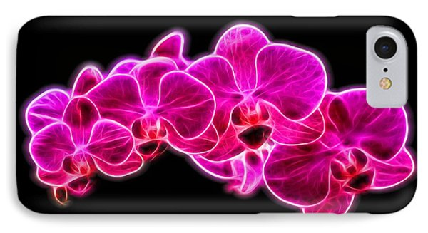 Neon Orchid IPhone Case by Dan Sproul