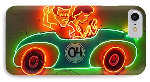 Neon Sign Kennywood Park IPhone Case by Jim Zahniser