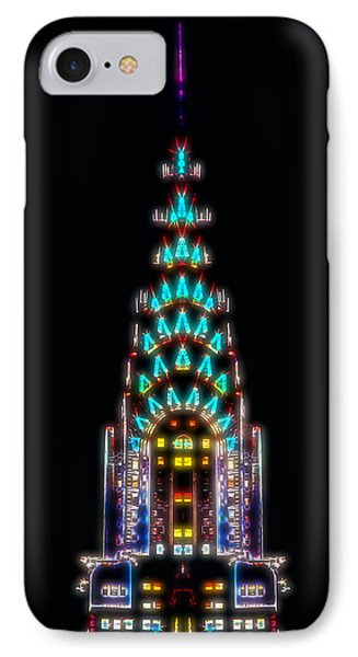Neon Spires IPhone Case