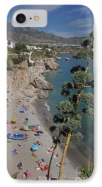 IPhone Case featuring the photograph Nerja Beach by Rod Jones