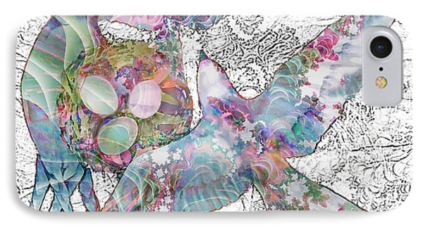 IPhone Case featuring the digital art Nesting 3 by Ursula Freer