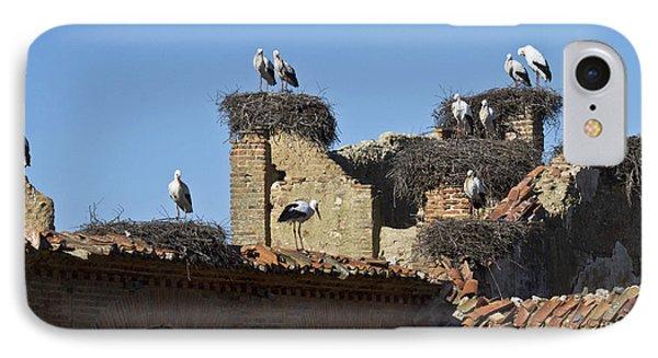 Nesting Stork Colony IPhone Case