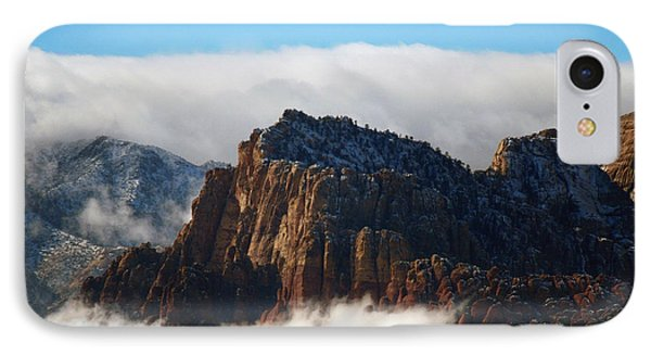 Nestled In The Clouds IPhone Case by Alan Socolik