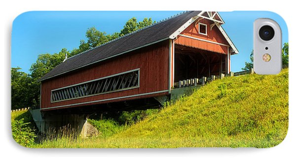 Netcher Road Bridge IPhone Case by Skip Tribby