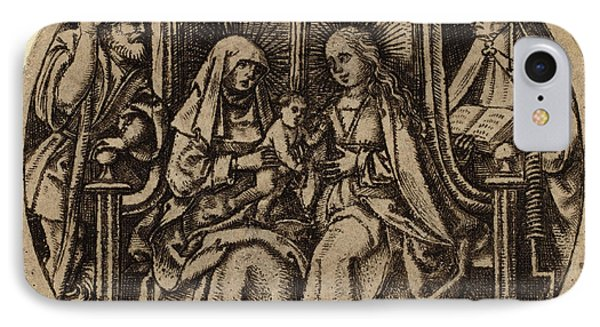 Netherlandish 15th Century, Madonna And Child With Saints IPhone Case