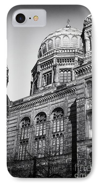 Neue Synagogue Phone Case by John Rizzuto