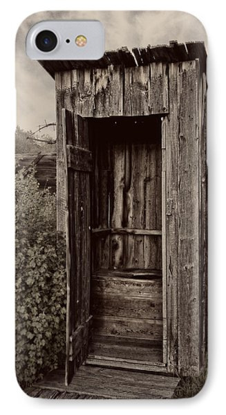 Nevada City Ghost Town Outhouse - Montana Phone Case by Daniel Hagerman