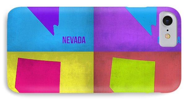 Nevada Pop Art Map 1 Phone Case by Naxart Studio