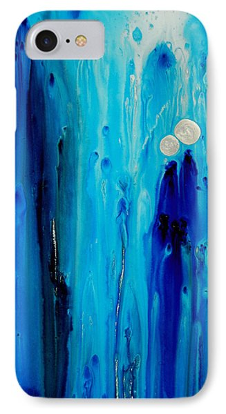 Abstract iPhone 7 Case - Never Alone By Sharon Cummings by Sharon Cummings