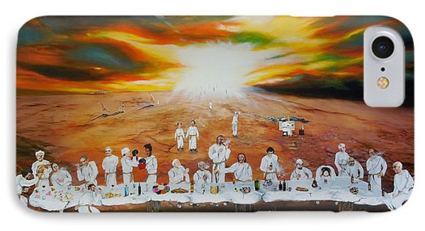 Never Ending Last Supper IPhone Case by Raymond Perez