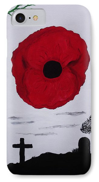 IPhone Case featuring the painting Never Forgotten by Martin Blakeley
