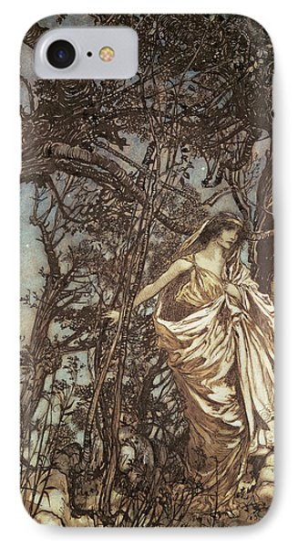 Never So Weary Never So Woeful Illustration To A Midsummer Night S Dream Phone Case by Arthur Rackham