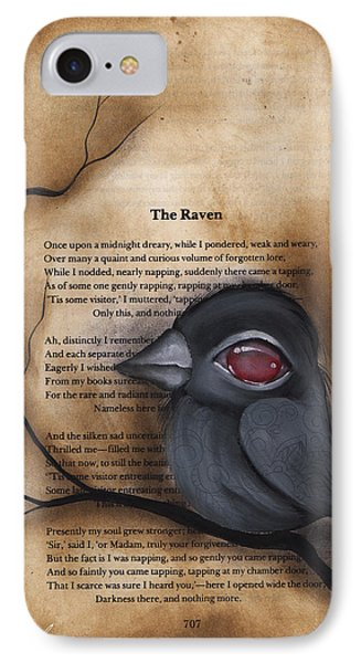 Nevermore #1 IPhone Case by  Abril Andrade Griffith