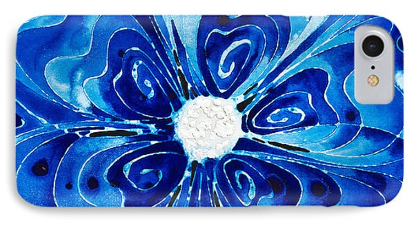 New Blue Glory Flower Art - Buy Prints Phone Case by Sharon Cummings