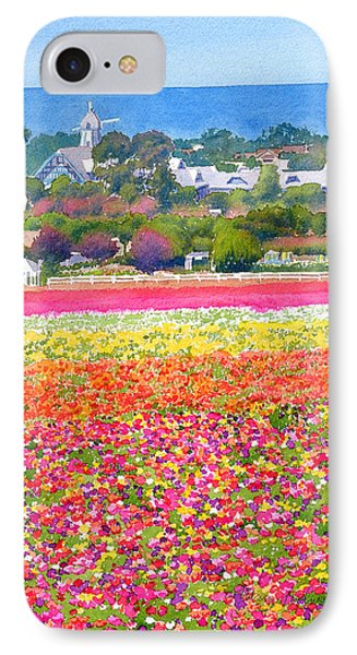 Pacific Ocean iPhone 7 Case - New Carlsbad Flower Fields by Mary Helmreich