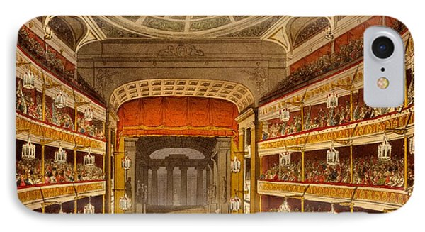 New Covent Garden Theatre IPhone Case by T. & Pugin, A.C. Rowlandson