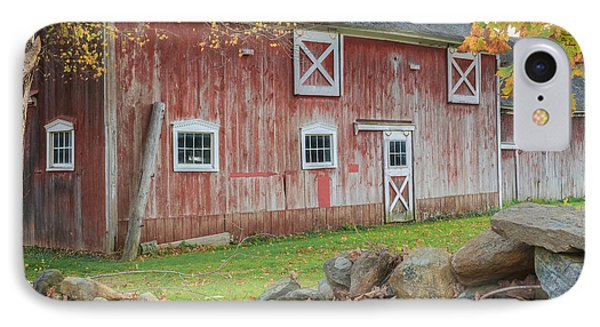 New England Barn Square Phone Case by Bill Wakeley
