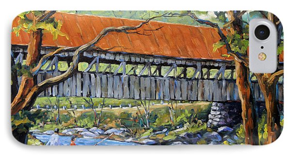 New England Covered Bridge By Prankearts IPhone Case by Richard T Pranke