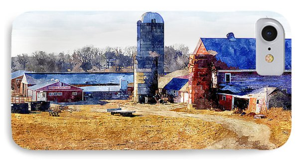 New England Farm 2 IPhone Case by Rick Mosher