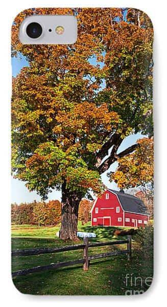 New England Farm Fall Foliage Phone Case by Edward Fielding