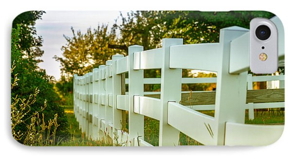 New England Fenceline IPhone Case by Brian Caldwell
