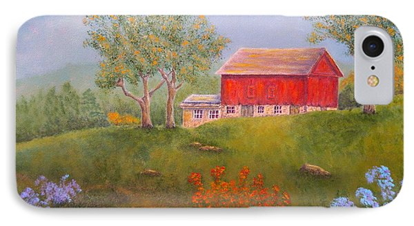 New England Red Barn Summer Phone Case by Pamela Allegretto