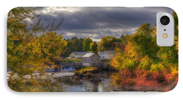 New England Town In Autumn IPhone Case