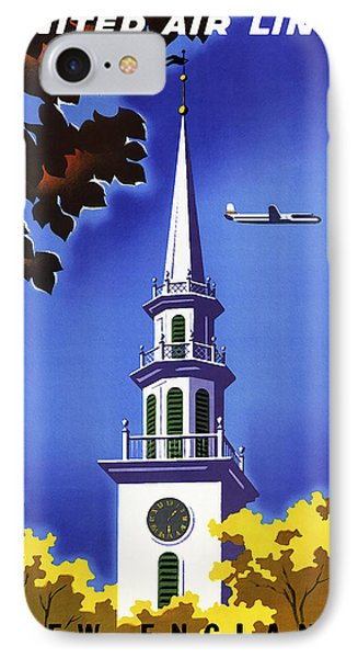 New England United Air Lines Phone Case by Mark Rogan