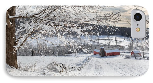 New England Winter Farms Phone Case by Bill Wakeley